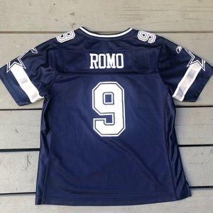 c3ddd53d5b9 Reebok Shirts & Tops | Tony Romo 9 Dallas Cowboys Kids Jersey Large ...
